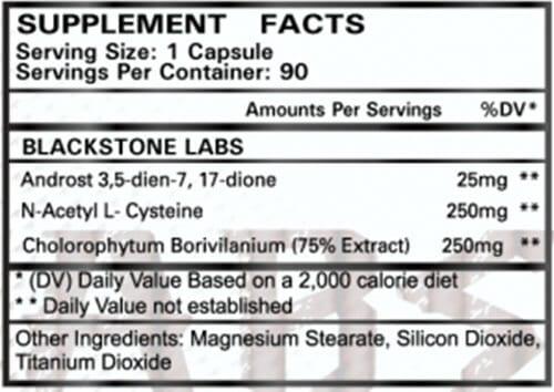 Eradicate Supplement Facts