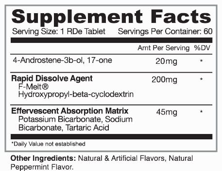 4-AD RDe Supplement Facts
