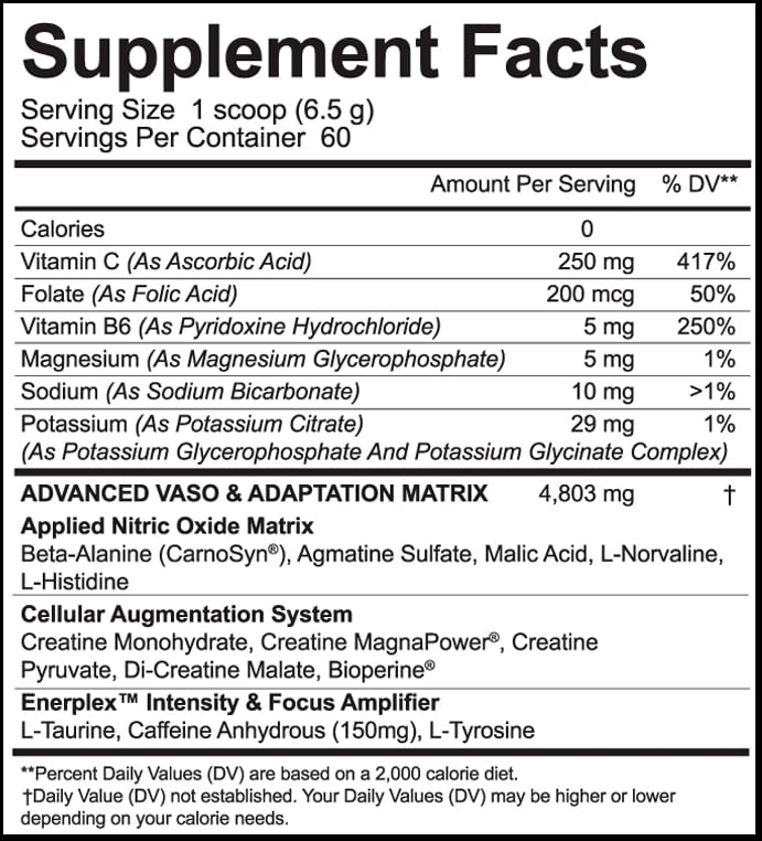 Juggernaut HP Supplement Facts