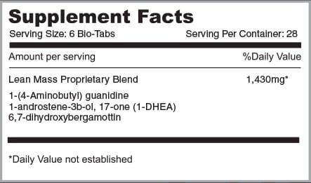 Alpha Mass Supplement Facts