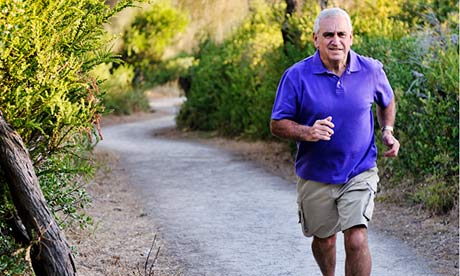 A 65-year-old runner