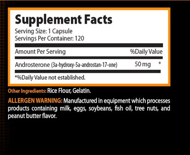 Andro Elite Supplement Facts
