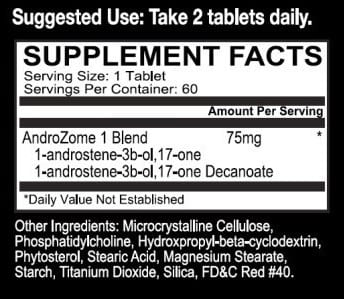 AndroZome1 Supplement Facts