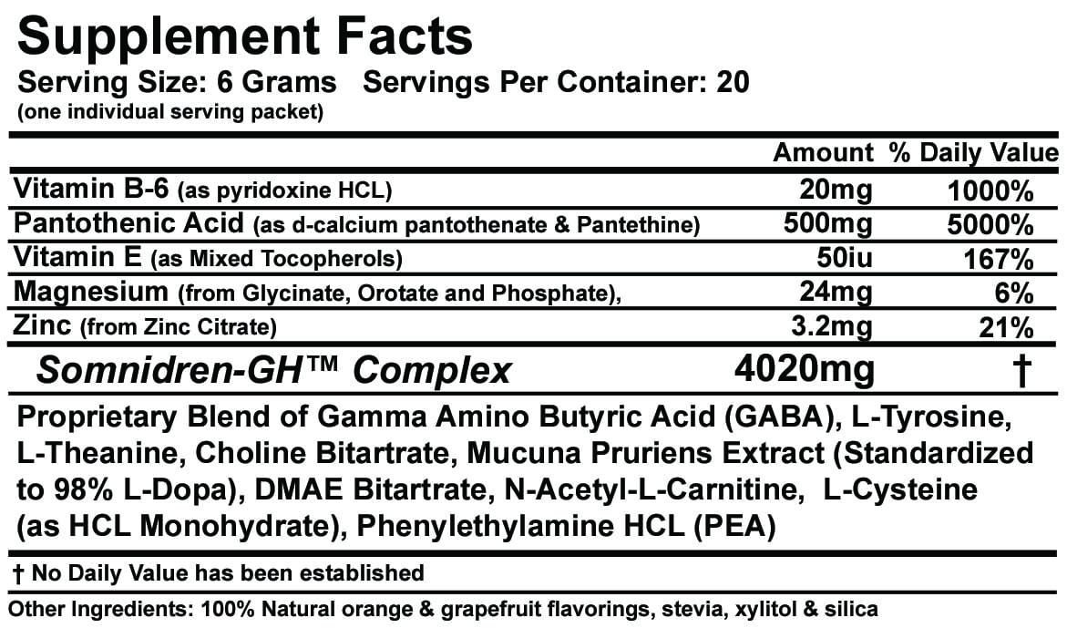 Somnidren-GH Supplement Facts
