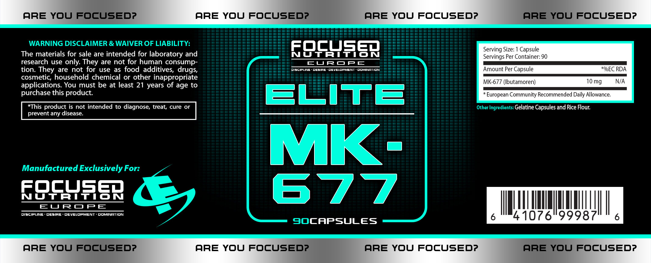 MK Elite Supplement Facts
