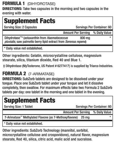 Methyl Arimatest Supplement Facts