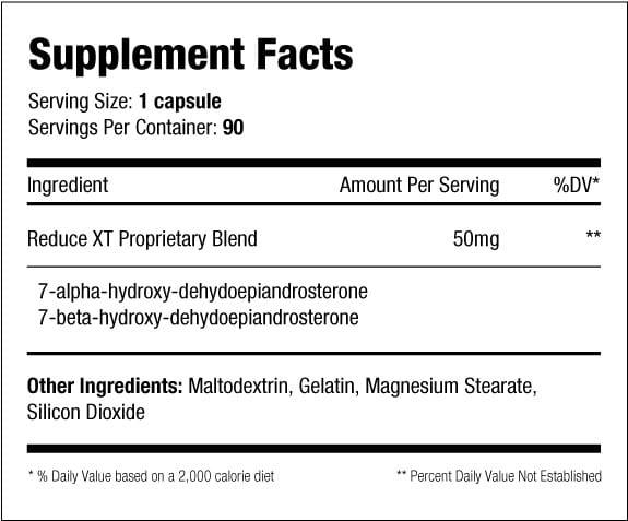 Reduce XT Supplement Facts