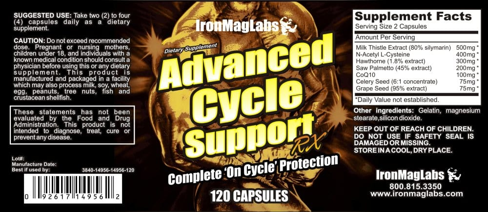 Advanced Cycle Support RX Supplement Facts