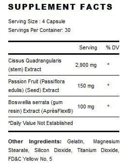 GenoFlex Supplement Facts