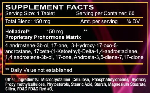 Helladrol Supplement Facts