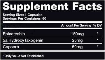 Legendary Supplement Facts