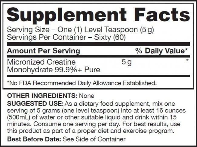 Qualitine Supplement Facts