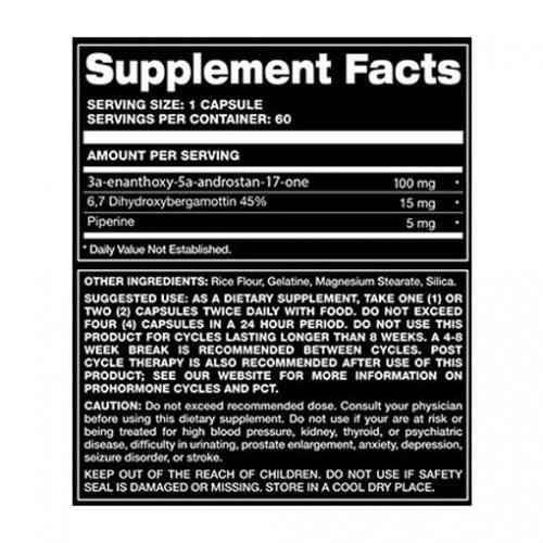 Super R-Andro RX Supplemet Facts