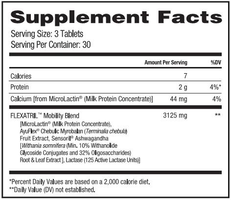 Flexatril Supplement Facts