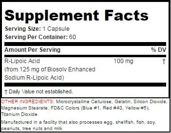 NA-R-ALA Supplement Facts