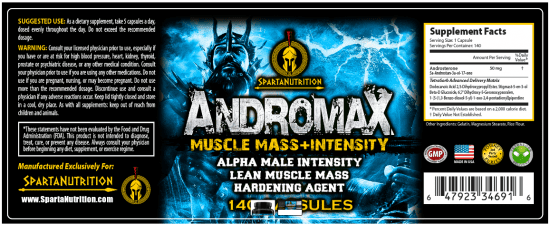 Andromax Supplement Facts