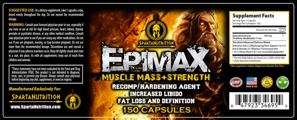 Epimax Supplement Facts
