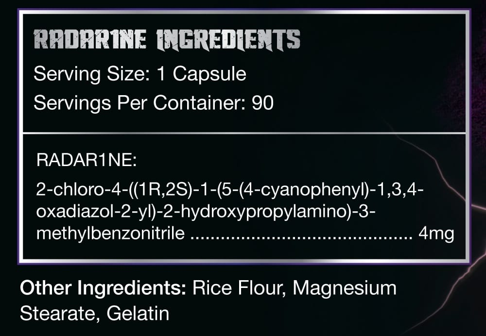 Radar1ne Supplement Facts