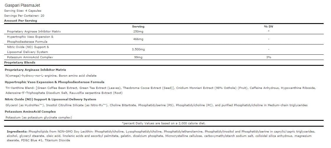 gaspari-plasmajet-ingredients