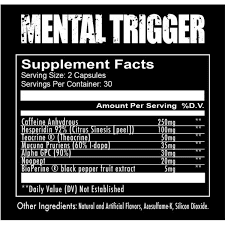 Mental Trigger Supplement Facts