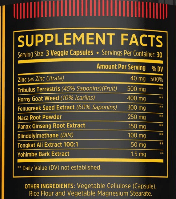 Boost Elite Supplement Facts