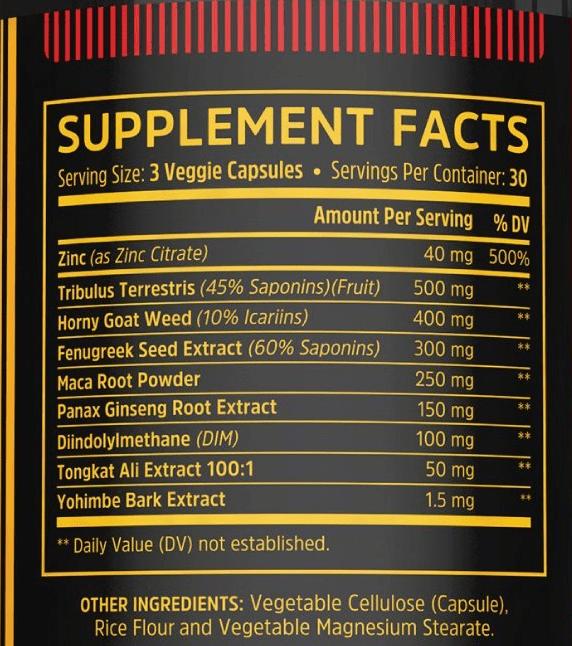 Boost Elite Supplement Facts