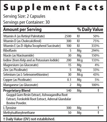 Actalin Supplement Facts