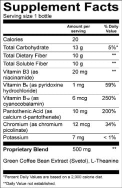 Qurb PM Supplement Facts
