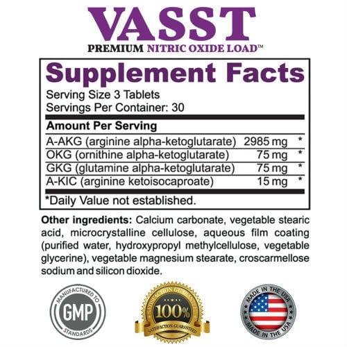 Vasst Supplement Facts
