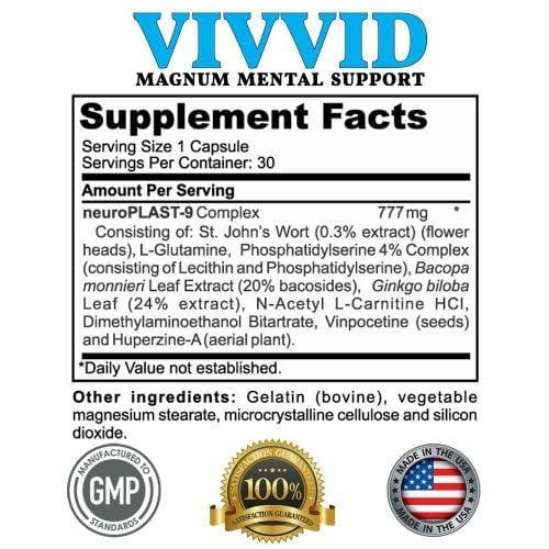 Vivvid Supplement Facts