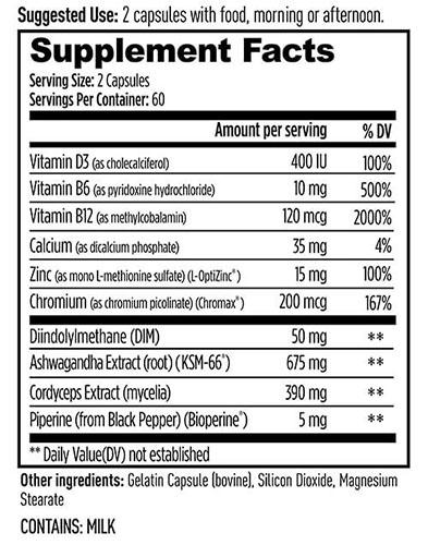 Weider Prime Ingredients